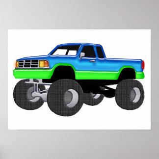 De prachtige Vrachtwagen van het Monster Poster