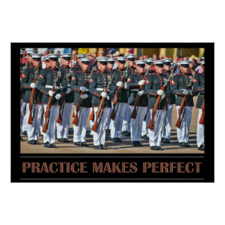 De praktijk maakt Perfect Poster