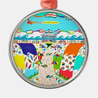 De Premie van de Stad van het Eiland van het zee Kerst Ornamenten