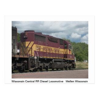 De Prentbriefkaar van treinen Briefkaart