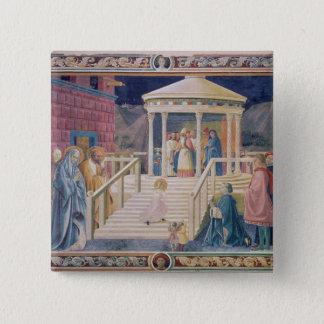 De presentatie van Heilige Maagdelijke Mary Vierkante Button 5,1 Cm