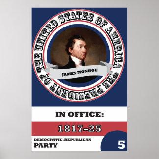De Presidentiële Geschiedenis van James Monroe Poster