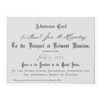 De presidentiële Kaart van de Toelating Banquest