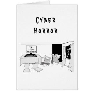 """De pret """"H"""" is voor Hakker 'Cyber Horror Briefkaarten 0"""