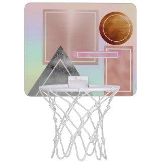 De pret met gouden vormen, metaal, nam goud, mini basketbalring
