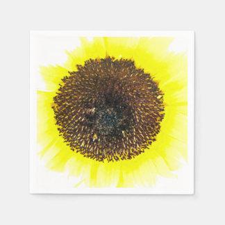 De Pret van de zonnebloem Papieren Servet