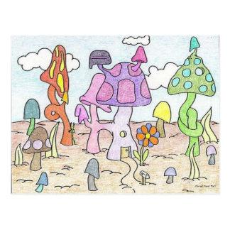 De Pret van het Huis van Mushoom Briefkaart
