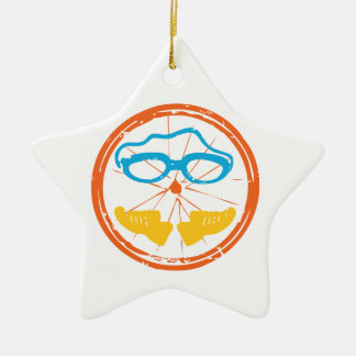 De pretontwerp van Triathlon Keramisch Ster Ornament
