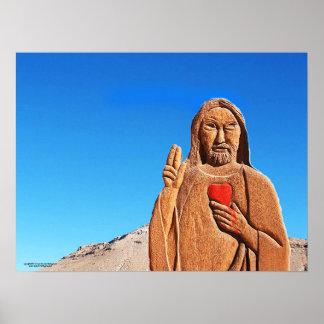 De priester in de Woestijn Poster