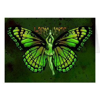 De Prijs Verte van La met Uitgespreide Vleugels Kaart