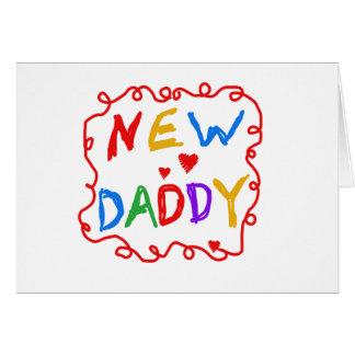 De primaire Nieuwe Papa van de Tekst van Kleuren Briefkaarten 0