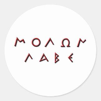 De Primitief van Labe van Molon Ronde Sticker
