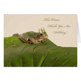 De Prins van de kikker, Aanzoek Wenskaart