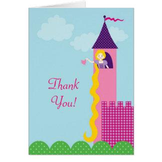 De prinses Rapunzel dankt u kaardt Briefkaarten 0