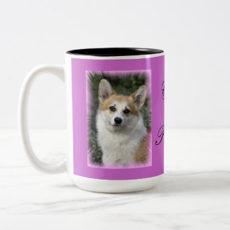 De Prinses van Corgi Tweekleurige Koffiemok