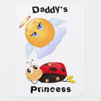 De Prinses van de papa met het Glimlachen van Zon Baby Dekens