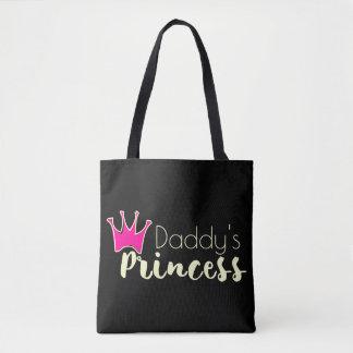 De prinses van de papa met roze kroon draagtas