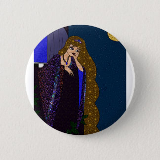 De Prinses van de toren Ronde Button 5,7 Cm
