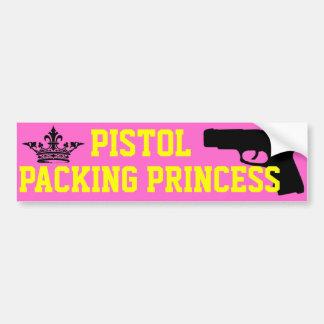 De Prinses van de Verpakking van het pistool Bumpersticker