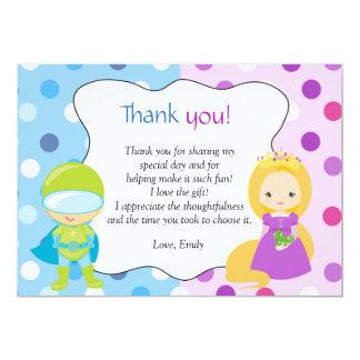 De Prinses van Superhero dankt u nota neemt van Kaart