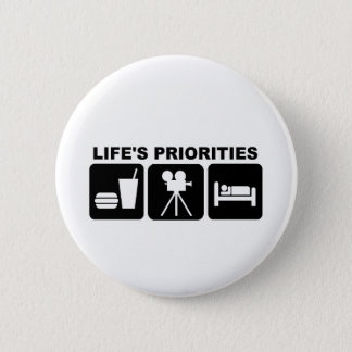 De Prioriteiten van het leven, Films Ronde Button 5,7 Cm