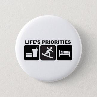 De prioriteiten van het leven, Snowboarding Ronde Button 5,7 Cm