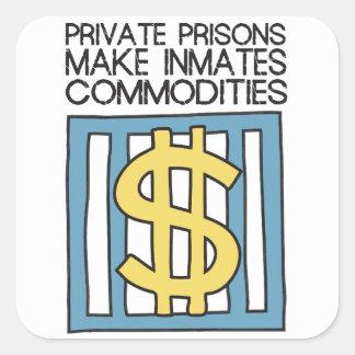 De privé Gevangenissen maken de Goederen van Vierkante Sticker