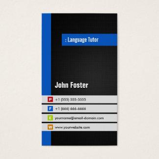 De Privé-leraar van de Vreemde taal - Moderne Visitekaartjes