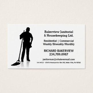 De pro Janitorial of Schoonmakende Dienst van het Visitekaartjes