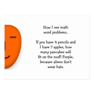 De Problemen van Word van de wiskunde. Grappig Briefkaart