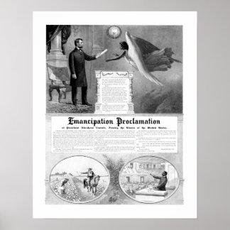 De Proclamatie van de emancipatie Poster