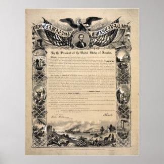 De Proclamatie van de Emancipatie van Abraham Poster