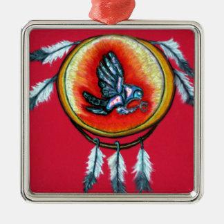 De Producten van Chumroo van Pari Zilverkleurig Vierkant Ornament
