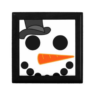 De Producten van de Jongen van de sneeuwman Decoratiedoosje