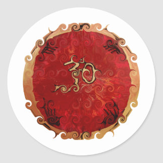 De Producten van het ohm Ronde Stickers