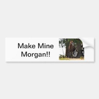 De Producten van het Paard van Morgan!! Bumpersticker