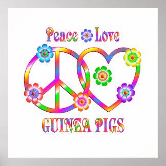 De Proefkonijnen van de Liefde van de vrede Poster