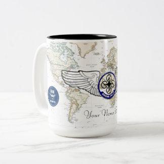 De ProefVleugels van de hommel Tweekleurige Koffiemok
