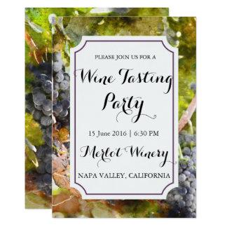 De Proevende Partij van de Wijn van de Waterverf Kaart