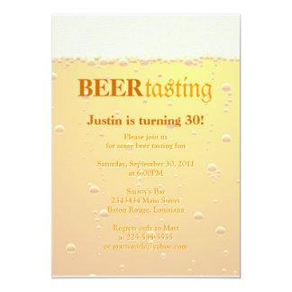 De Proevende Partij van het bier 12,7x17,8 Uitnodiging Kaart
