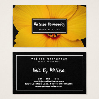 De professionele Bloemen Gele Elegante Foto van de Visitekaartjes