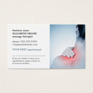 De professionele Elegante Massage AppointmentCard Visitekaartjes
