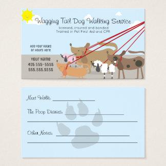 De professionele het Lopen van de Hond Zaken van Visitekaartjes