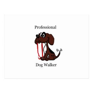 De professionele Leurder van de Hond Briefkaart