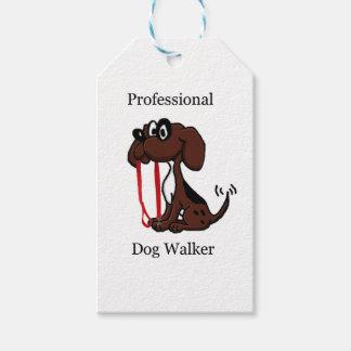 De professionele Leurder van de Hond Cadeaulabel
