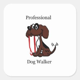 De professionele Leurder van de Hond Vierkante Sticker