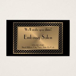 De professionele Salon van de Schoonheid in Goud Visitekaartjes