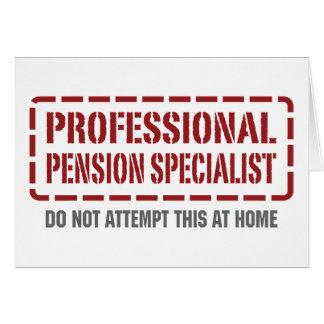 De professionele Specialist van het Pensioen Wenskaart