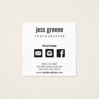 De professionele Zwart-witte Sociale Pictogrammen Vierkant Visitekaartjes