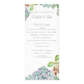 De programma's van het Huwelijk van Succulents van 10,2x 22,9 Cm Reclamekaart